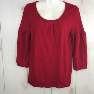 Talbots 3/4 Sleeve Red Top Sz P Small